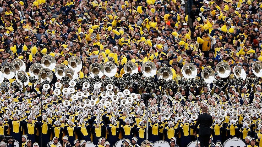 La fanfare des Wolverines du Michigan