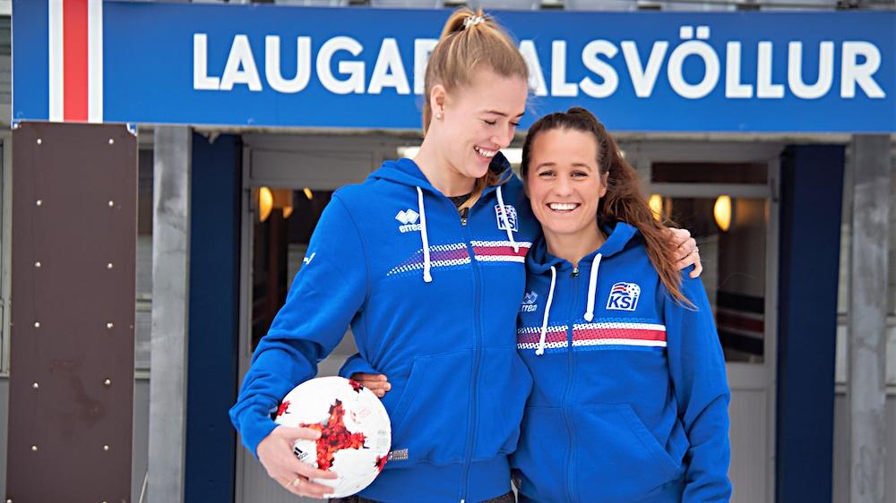 Dagny Brynjarsdottir et Fanndis Frioriksdottir