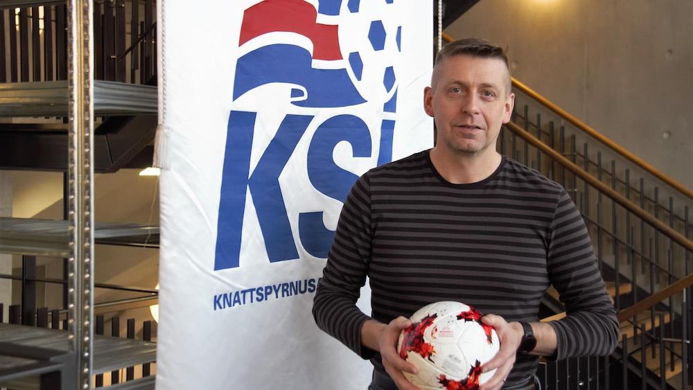 Thorvaldur Ingi Mundarson, responsable de la logistique de l'équipe féminine d'Islande