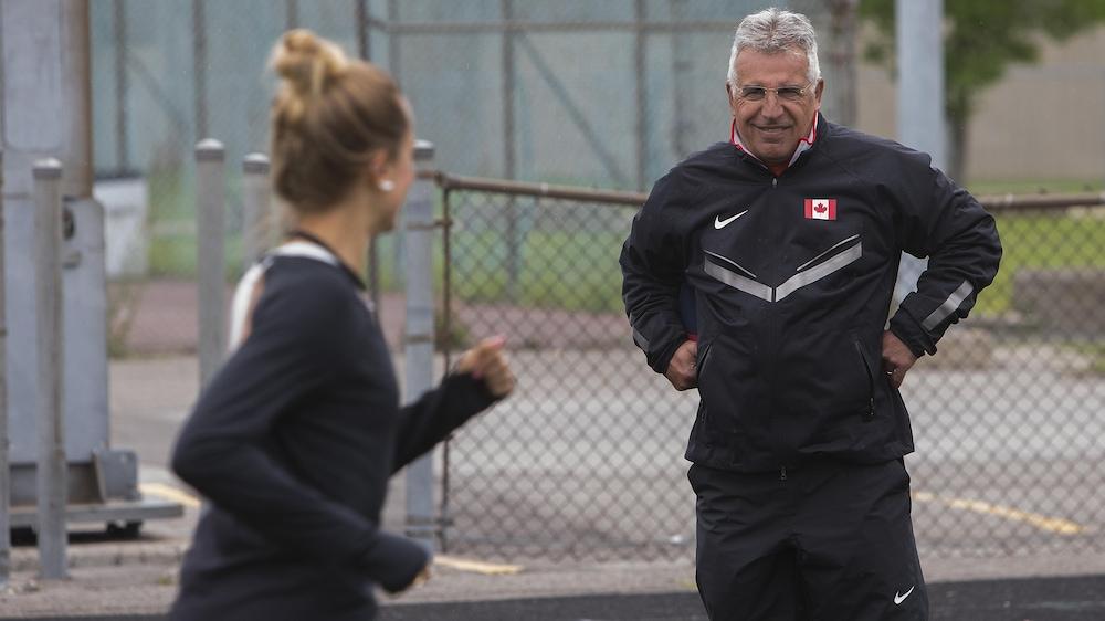 Annie Leblanc et son entraîneur, José Sant