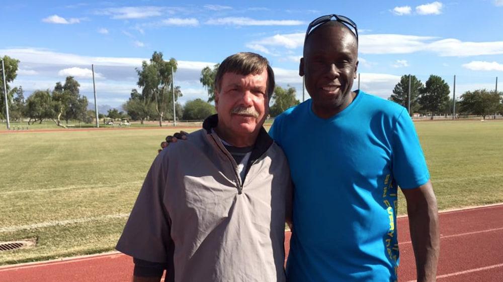 Bruny Surin et son ancien entraîneur Dan Pfaff
