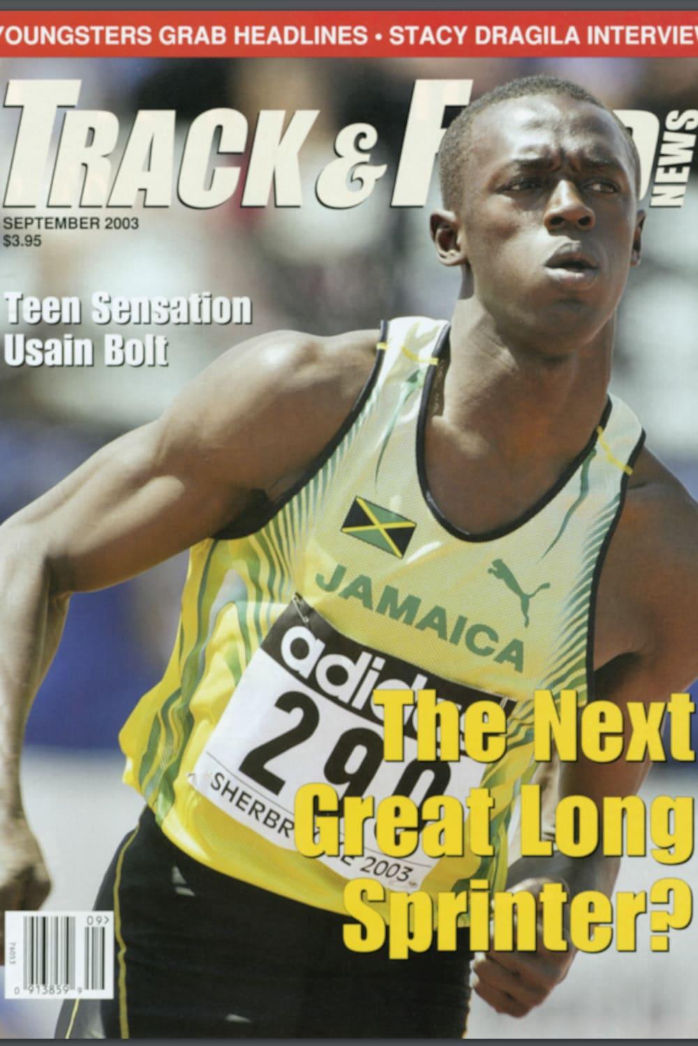 Usain Bolt à la une de Track and Field News en septembre 2003