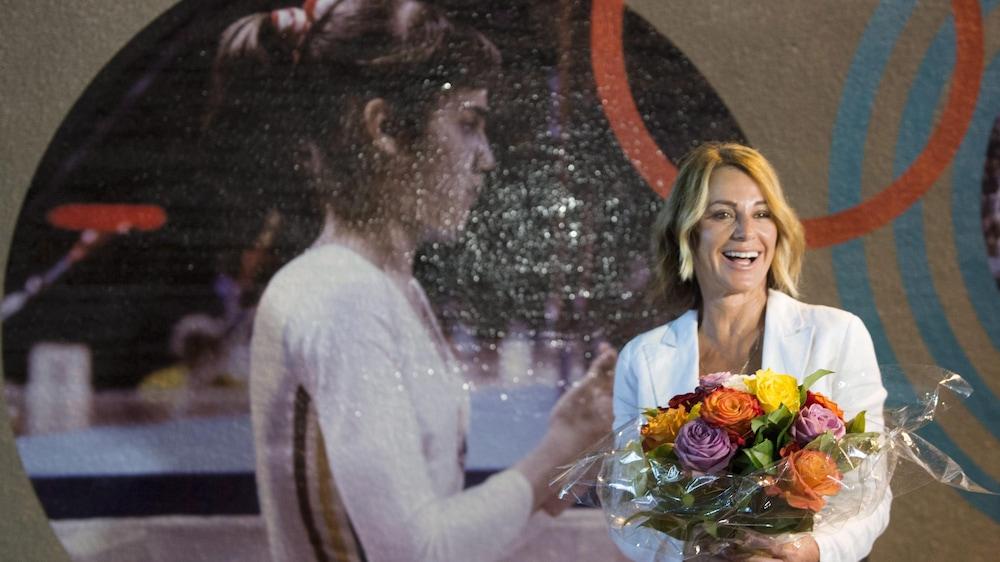 Nadia Comaneci à Montréal le 21 juillet 2016 pour le 40e anniversaire des Jeux olympiques de Montréal