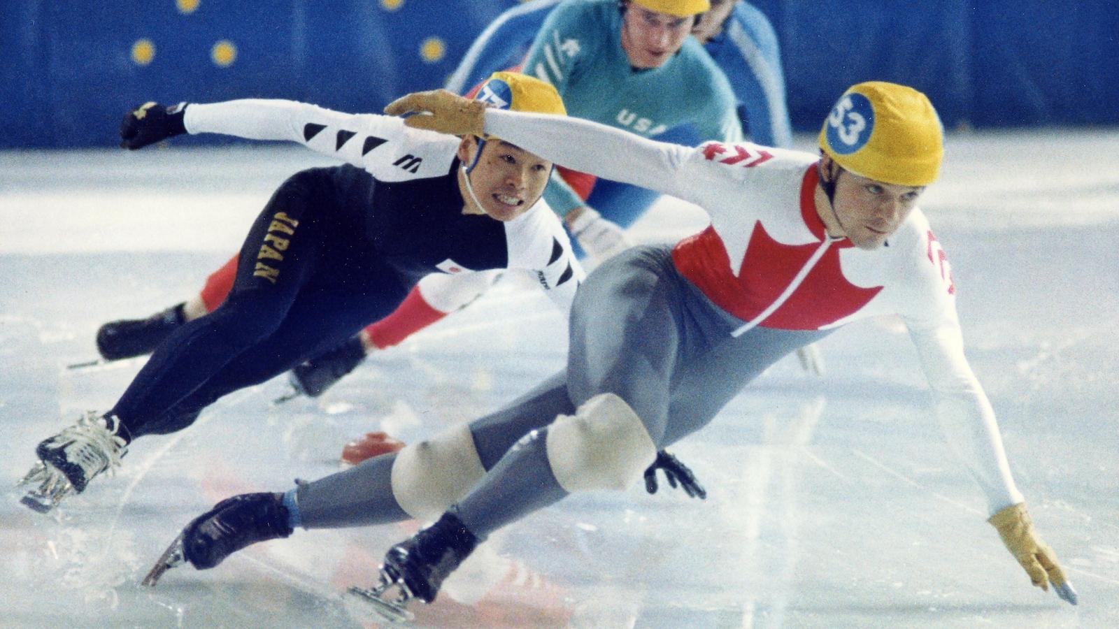 Michel Daignault, triple médaillé en démonstration à Calgary