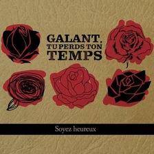 Des roses rouges et noires sont dessinées sur la pochette de l'album.