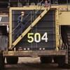 Un véhicule de transport des matériaux miniers.