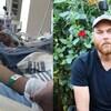 Deux photos d'Aeris Kurtis Finch, l'une d'elle alors qu'il est dans le coma et l'autre trois ans plus tard dans un jardin.