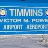 Pancarte de l'aéroport Victor M. Power de Timmins