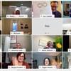 Capture d'écran montrant une conversation par vidéoconférence montrant 16 participants.