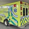 Une ambulance à l'urgence d'un centre hospitalier de l'Abitibi-Témiscamingue.
