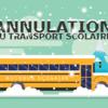 Un autobus scolaire sous la neige.
