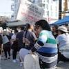 Des manifestants s'opposent au passeport vaccinal