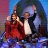 Alberto Fernandez et l'ex-présidente Cristina Fernandez de Kirchner à Buenos Aires,