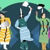 Une illustration montrant des femmes autochtones qui dansent.