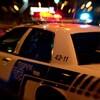 Une auto-patrouille du Service de police de Montréal dans la nuit.