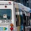 Un autobus de la Société de transport de Montréal (vue arrière)
