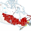 Avertissements de froid extrême au Canada le 18 janvier 2019.