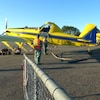 Des avions de la SOPFIM à la base de Matane.