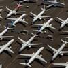 Plusieurs avions Boeing 737 MAX stationnés.