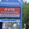 Le tableau électronique indicateur de Pohénégamook