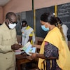 Un bureau de vote au Bénin.