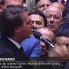 Le député Jair Bolsonaro votant la destitution de la présidente Dilma Rousseff au Congrès. Il dédie son vote à l'officier qui a torturé cette dernière pendant la dictature militaire.