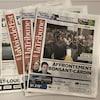 Quatre journaux, deux de la Voix de l'Est, deux de La Tribune.
