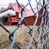 Vue du bunker des Hells Angels de Sherbrooke à travers une clôture industrielle
