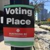 Un bureau de vote à Vancouver