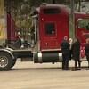 Les images tournées par WKBN démontrent clairement que le camion conduit par Guillaume Pelletier appartient à l'entreprise beauceronne Couture Expressway.