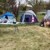 Des tentes sur le campement Marjorie à Regina.