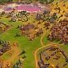 Capture d'écran montrant un village en vue aérienne dans un jeu vidéo.