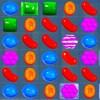 Capture d'écran du jeu Candy Crush, où l'on voit des bonbons sur une grille.