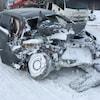 Plusieurs des véhicules ont été lourdement endommagés.