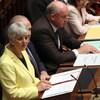 La ministre des Finances de Colombie-Britannique Carole James lors du dépôt de son budget en septembre dernier.