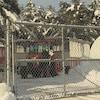 Carrioles derrière les clôtures