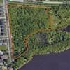 La superficie du boisé est délimitée sur une carte Google.