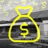 Montage photo montrant le Centre Asticou sur lequel on voit un sac avec un signe de dollars.