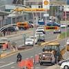 Circulation automobile au centre-ville de Sept-Îles.