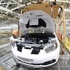 Une chaîne de production dans une usine de Dongfeng Nissan Passenger Vehicle Co. à Zhengzhou, province du Henan, en Chine.