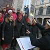 La chorale Gamik vocale dans le Petit-Champlain