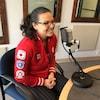 Christine Girard accorde une entrevue dans nos studios de Rouyn-Noranda.