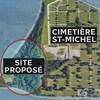 Une carte montrant le terrain proposé par Sherbrooke à l'Association culturelle islamique de l'Estrie.