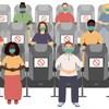 Des personnes avec des masques sont assises à distance.