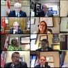 Une capture d'écran de la conférence Zoom avec différents participants.