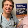 Le Dr Joseph Finkler souriant à l'hôpital.