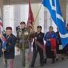 Un ancien vétéran métis pour le drapeau métis.