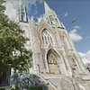 Façade de l'église Saint-Édouard.