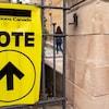 Un bureau de vote.