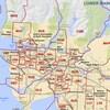 Une carte des circonscriptions du Grand Vancouver.